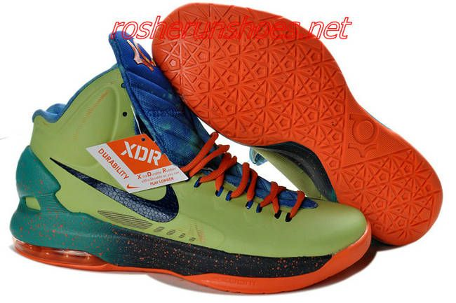 finest selection 31f15 07209 New Nike Zoom KD V Kevin Durant 5 Shoes On Sale Galaxy Lime Orange Galaxy  Print 583111 300