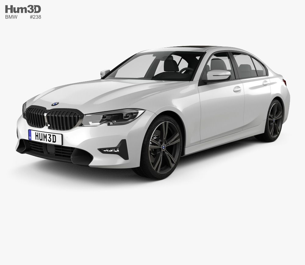3D model of BMW 3 Series (G20) Sport Line sedan 2019 Bmw