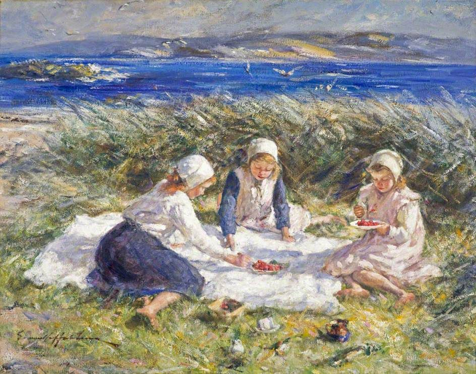 Strawberries and Cream by Robert Gemmell Hutchison, National Galleries of Scotland