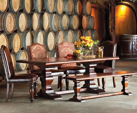 Napa Style kitchen table Helping Donna Chateau Ideas Pinterest