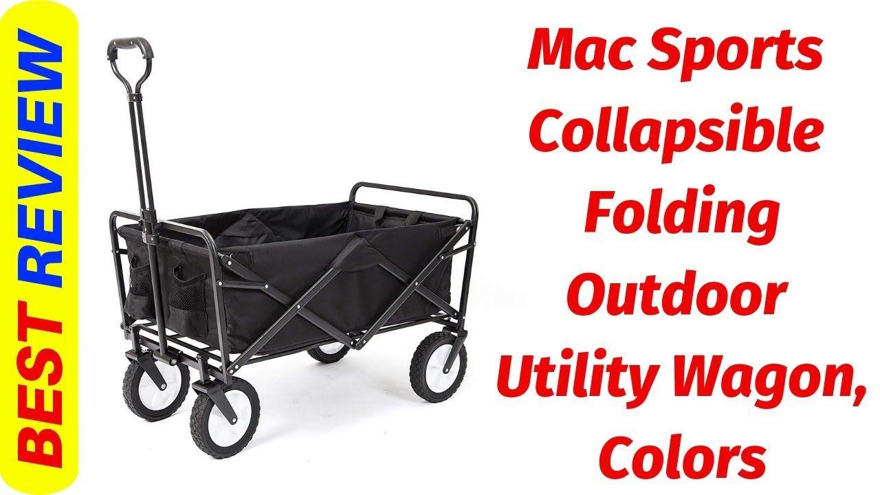 Mac Sports Folding utility wagon Review 2019 Beach Wagon