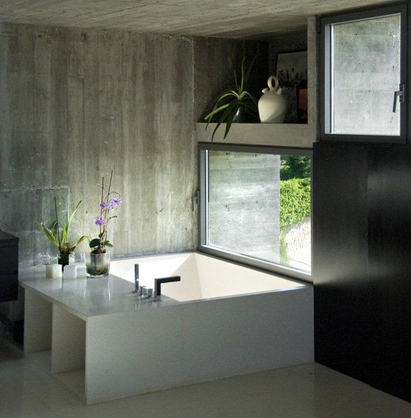 House Beautiful Bathrooms 2015: Modern Concrete Dwelling In Madrid: Pitch's House