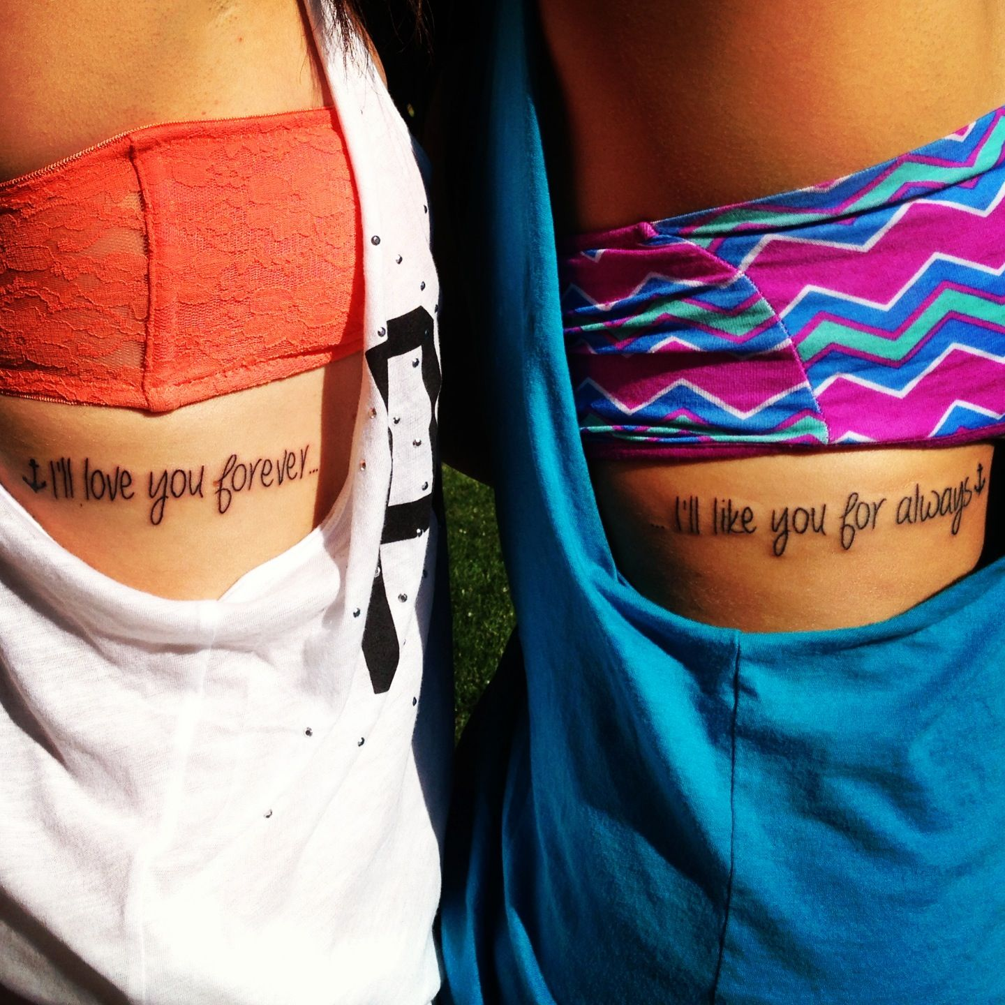 I Love You Forever I Like You For Always Quote Sister Tattoosi'll Love You Forever I'll Like You For Always