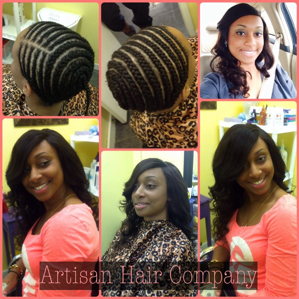 Full Sew In Weave With No Leave Out  Haircuts Site  Sew In