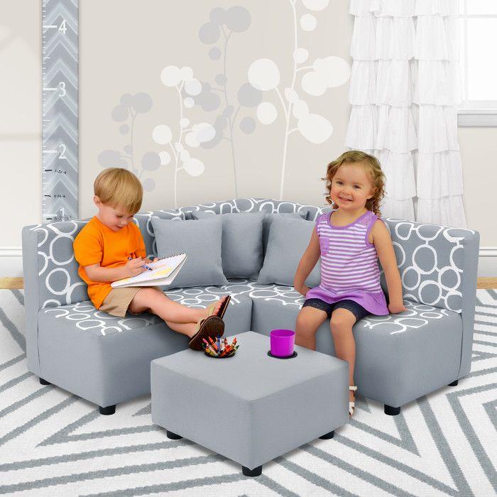 Yessenia Scoop Rocker Kids Chair Set