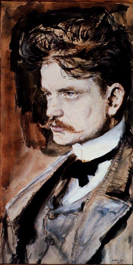 Akseli Gallen Kallela. Portrait of Jean Sibelius.