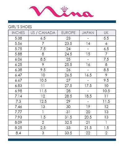 Size Chart For Kids Size Chart Chart