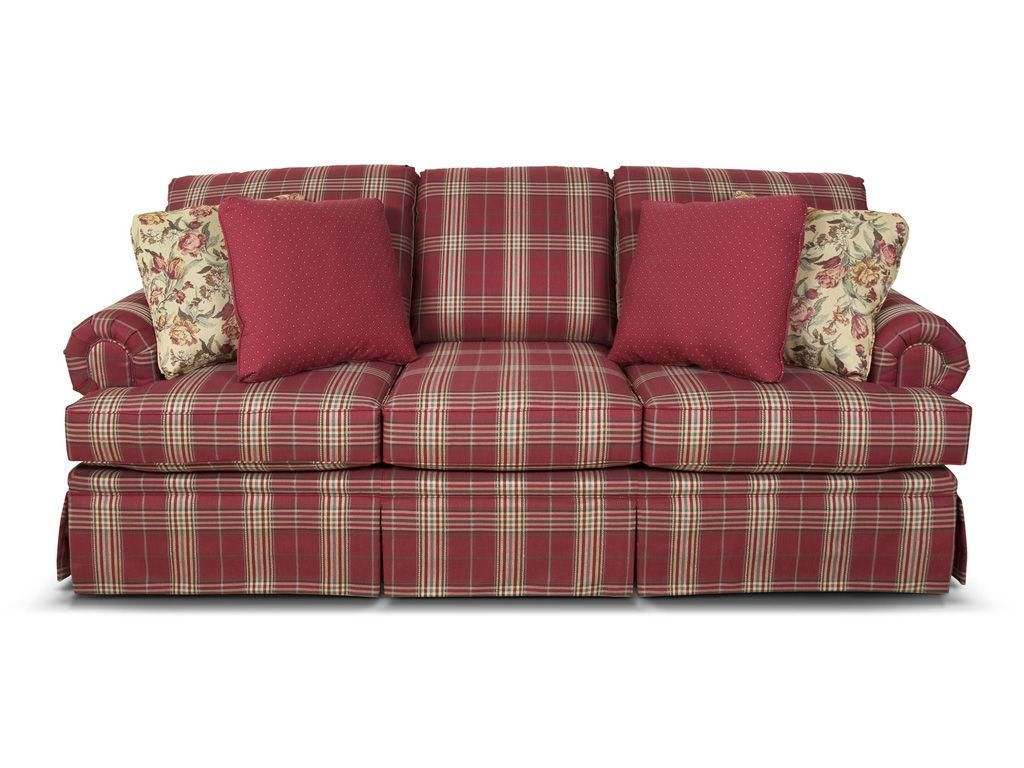 Create A Welcoming Atmosphere In Your Traditional Home With The Clare Sofa This Style Covered In Your Choice Of Ou Plaid Living Room Plaid Sofa Country Sofas