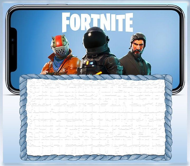 8 Fortnite Invitation Templates For Epic Party Free