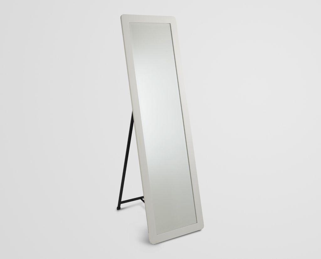 Espejo de cuerpo completo blanco espejos cuerpo for Precio de espejos de cuerpo completo