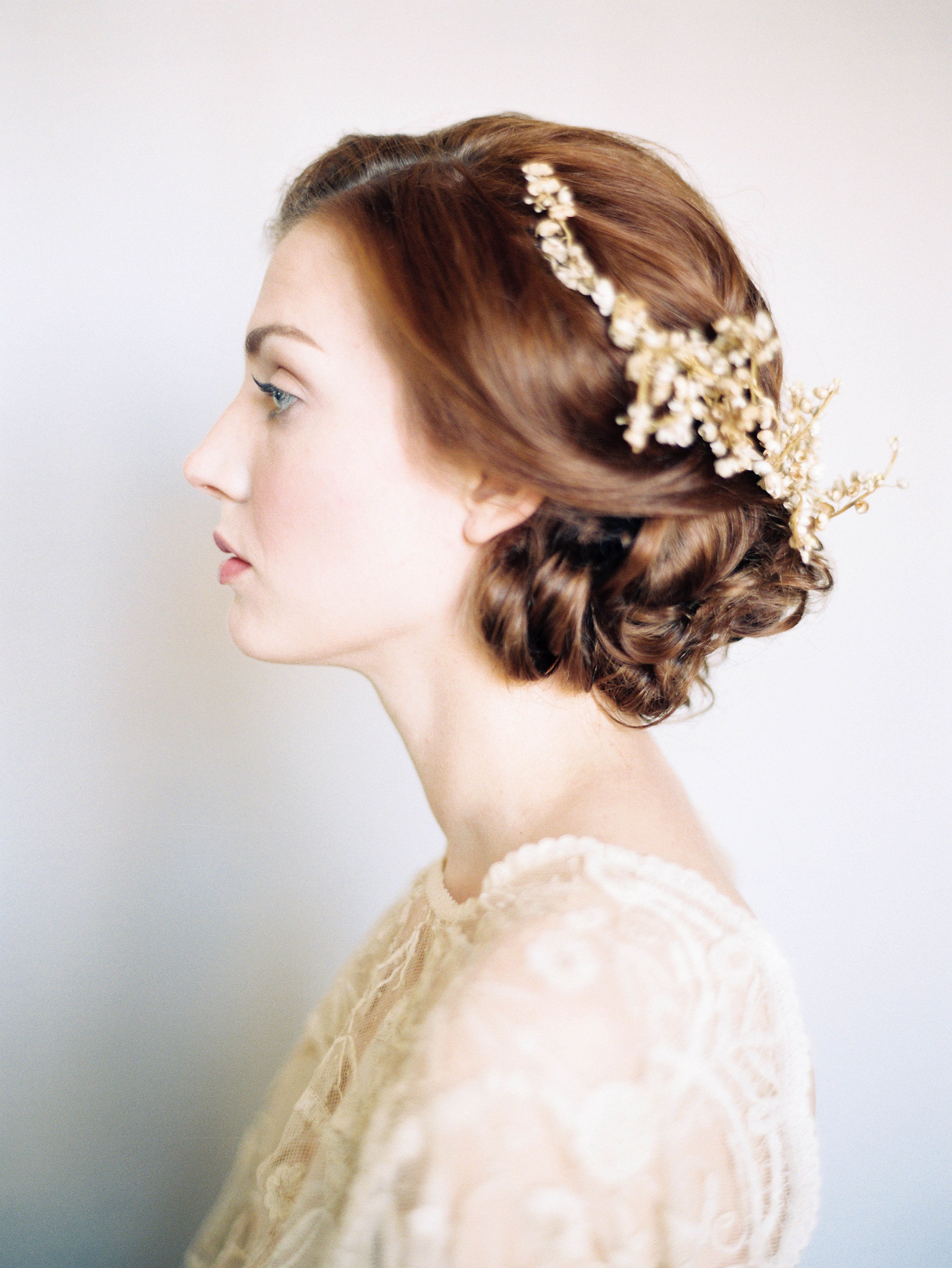 Gold Bridal Headpiece | photography by http://www.michaelandcarina.com/