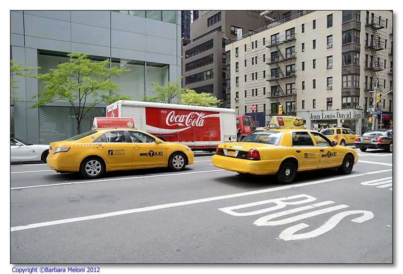 Taxis and Coca Cola, two simbols of New York and America