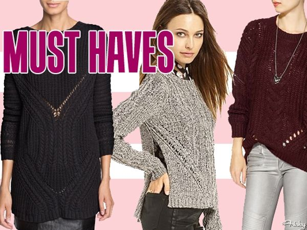 Must Haves: 14 Cozy Mixed-Knit Sweaters