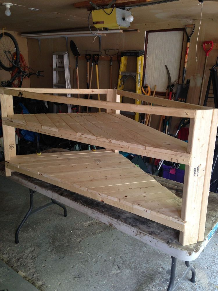 DIY Corner TV Stand Corner tv stands Corner tv and Tv stands