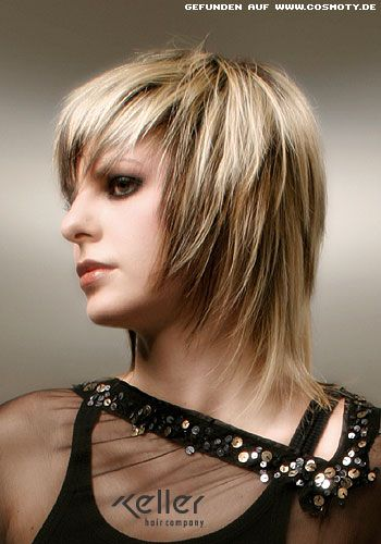 Frisuren Fransig Mittellang Bilder Hair And Beauty Pinterest