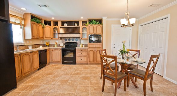 Maple cabinets, ceramic tile floors and four matching ...