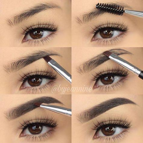 So füllen Sie Ihre Augenbrauen mit Bleistift / Eyeliner / Lidschatten / Puder So füllen Sie Ihre