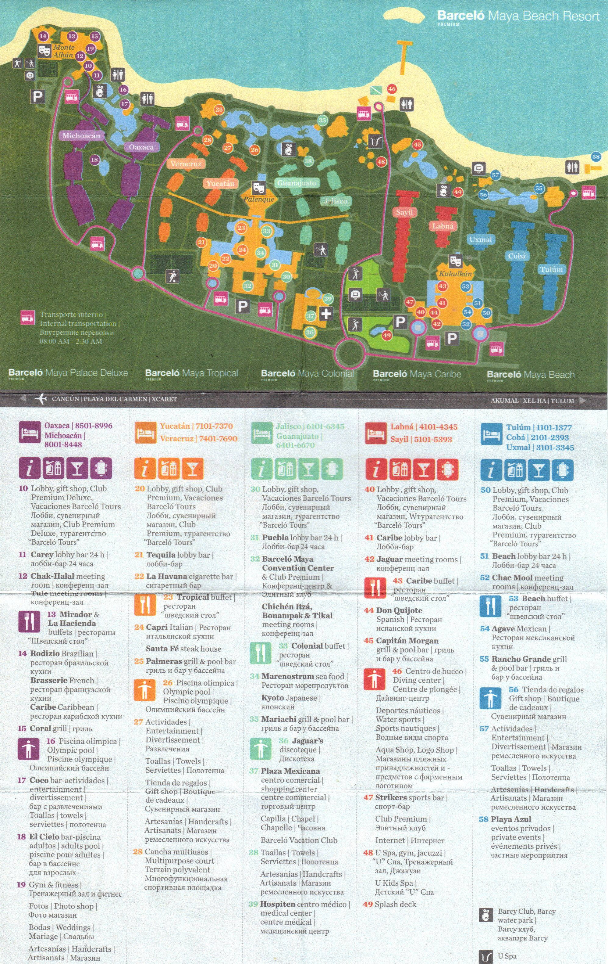 Sandos Caracol Eco Resort Map : sandos, caracol, resort, Hotel, Xcaret, Rvbangarang.org