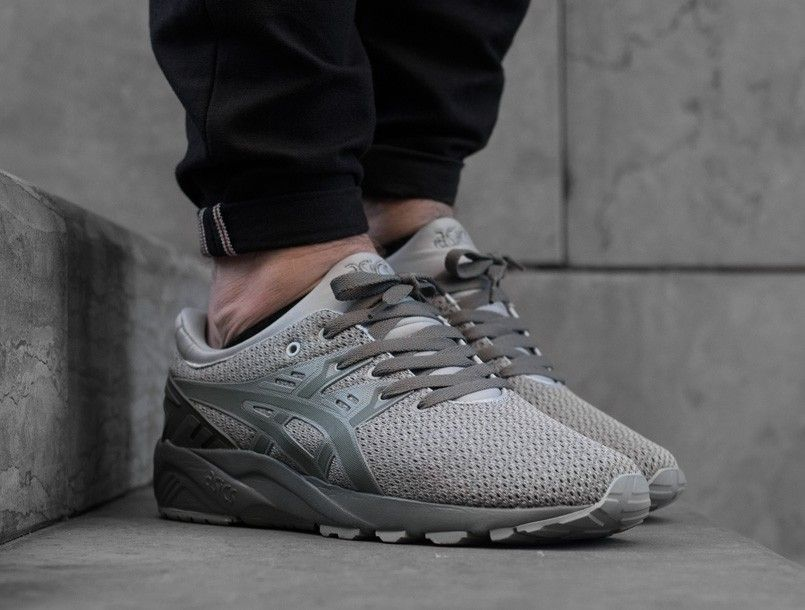 Asics Gel-Kayano Trainer Evo Knit agave green on foot 1