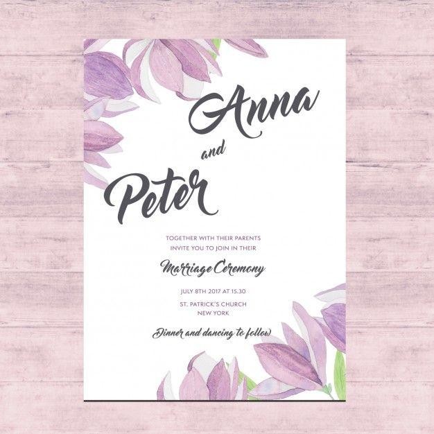 Projeto De Cartão Floral Do Casamento. Wedding Card DesignWedding ...