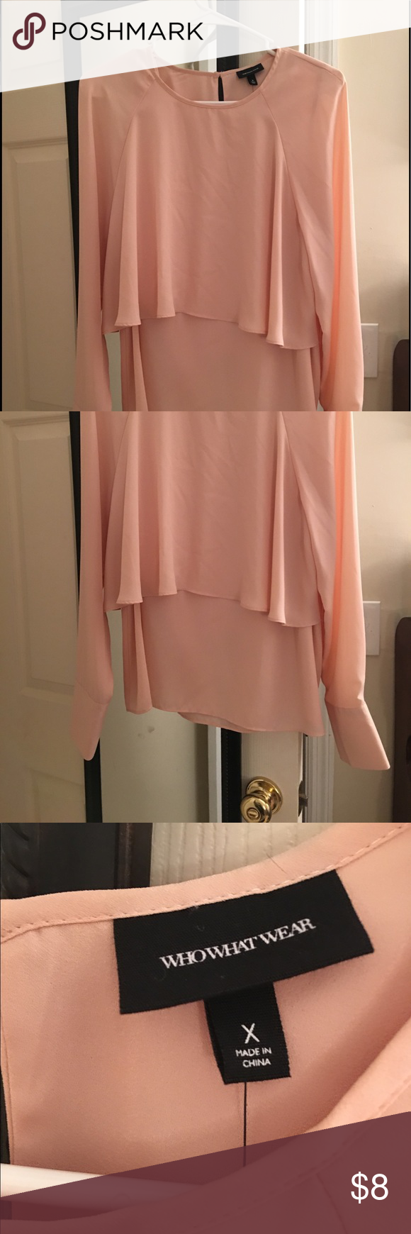 WhoWhatWear blouse NWOT!!! never before worn, only tried on once size large blouse. Perfect for work! Tops Blouses