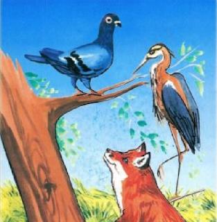 الحمامة والثعلب وملك الحزين Arabic Family Blog Posts Animals Rooster