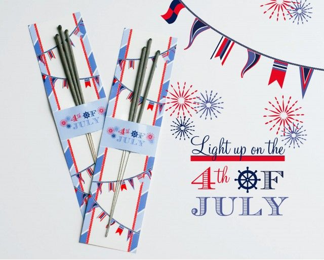 Free Printable Sparkler Holder for 4th of July #scentsylaborday