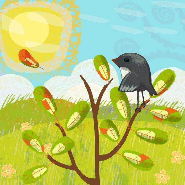 Autumn Skies (The Little Robin Series) wall art print from The little GALLERY of fine ARTS
