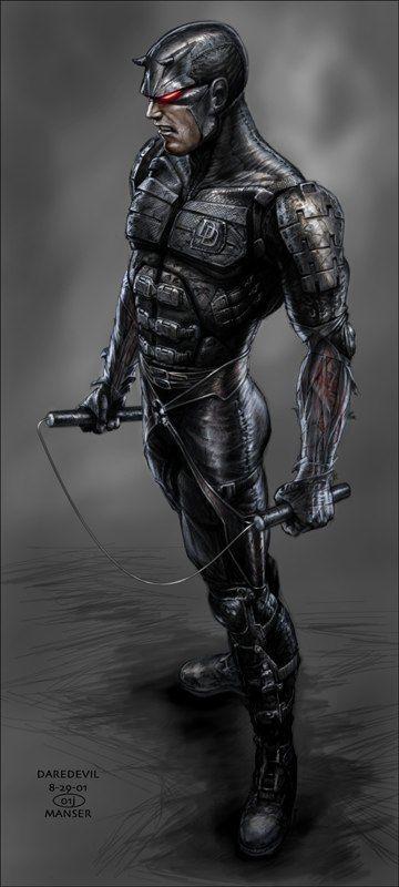 Daredevil Concept Art Comic Book Movie