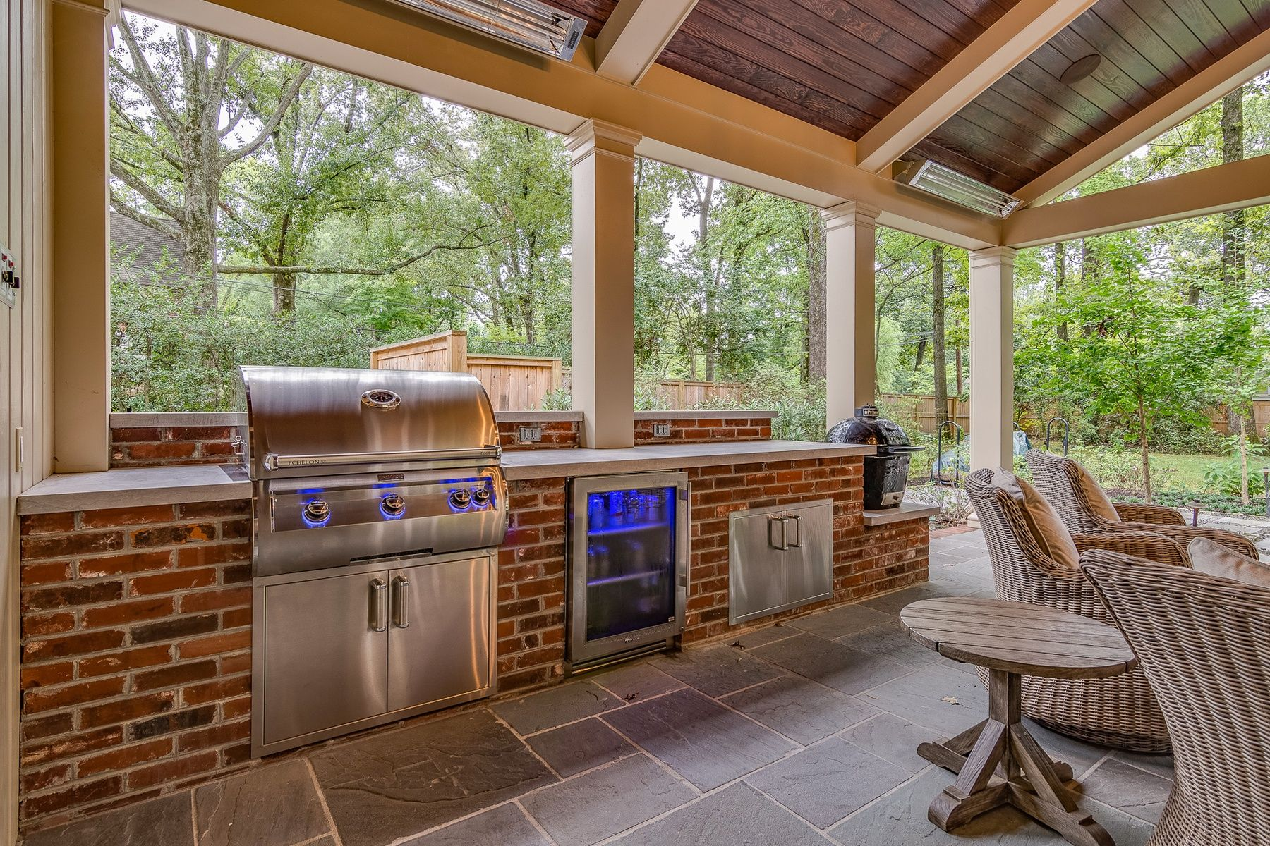 Pin On Patio With Roof And Fireplace