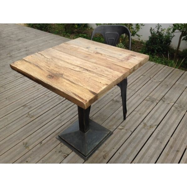 Table De Cafe Carree Bois Table Exterieur Bois Restaurant Bois