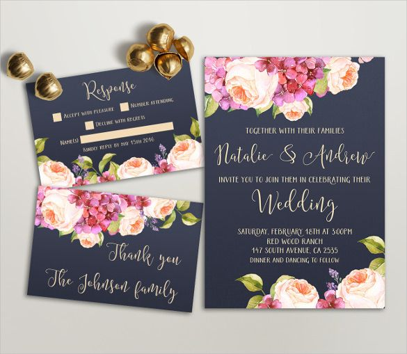 Wedding Invitation Template Free Printable Word PDF PSD - Wedding invitation templates: wedding invitation suite templates