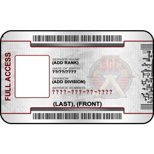 Stargate Custom Id Badge Card From Id Card Maker Online Stargate Id Badge Id Card Template