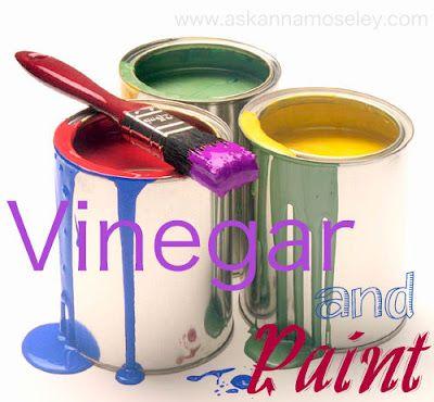 DIY painting tips involving vinegar.