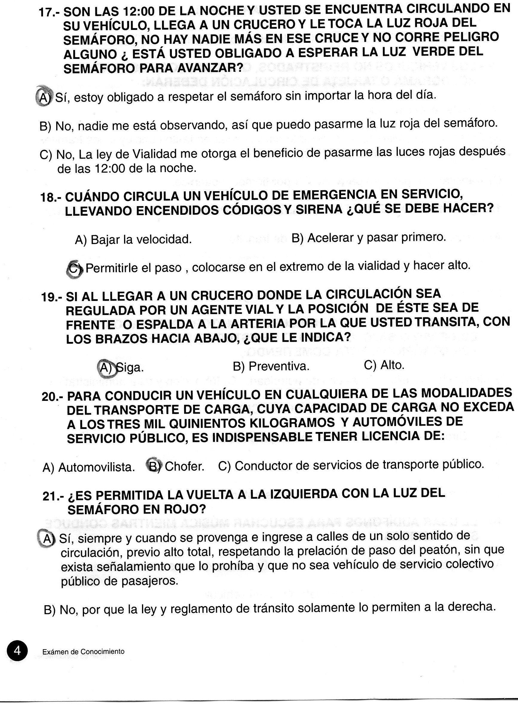 Preguntas examen de conduccion colombia