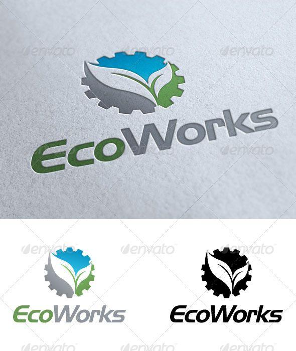Eco Works Logo Design Template Eco Logo Travel Logo
