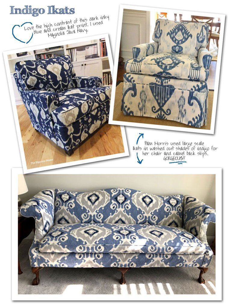 Cotton Ikat Prints For Slipcovers Slip Covers Couch Sectional Slipcover Slipcovers