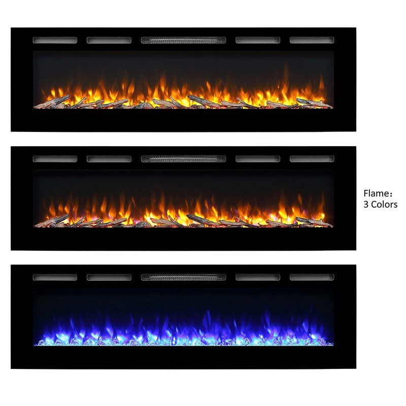 Callan Recessed Wall Mounted Electric Fireplace With Images Wall Mount Electric Fireplace Electric Fireplace Recessed Electric Fireplace