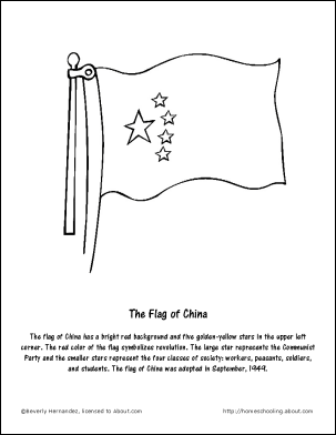 Learn About China With Free Printables China For Kids Flag Coloring Pages China Flag