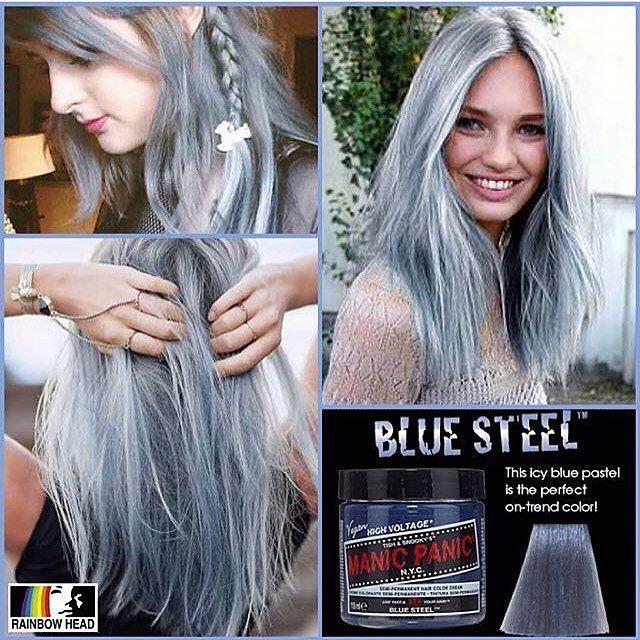 Manic Panic Blue Steel Hair Color Pastel Silver Hair Dye Hair