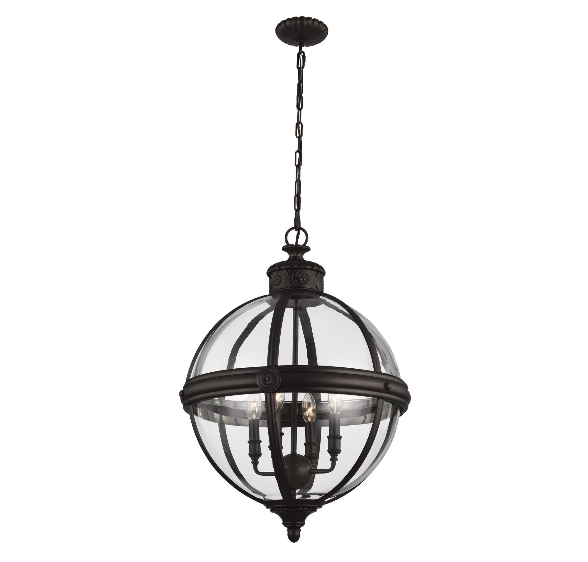 Feiss Adams 4-Light Oil Rubbed Bronze Large Pendant in Wall Lights, Wall Sconces, Shop Wall Sconces: LeeLighting.com