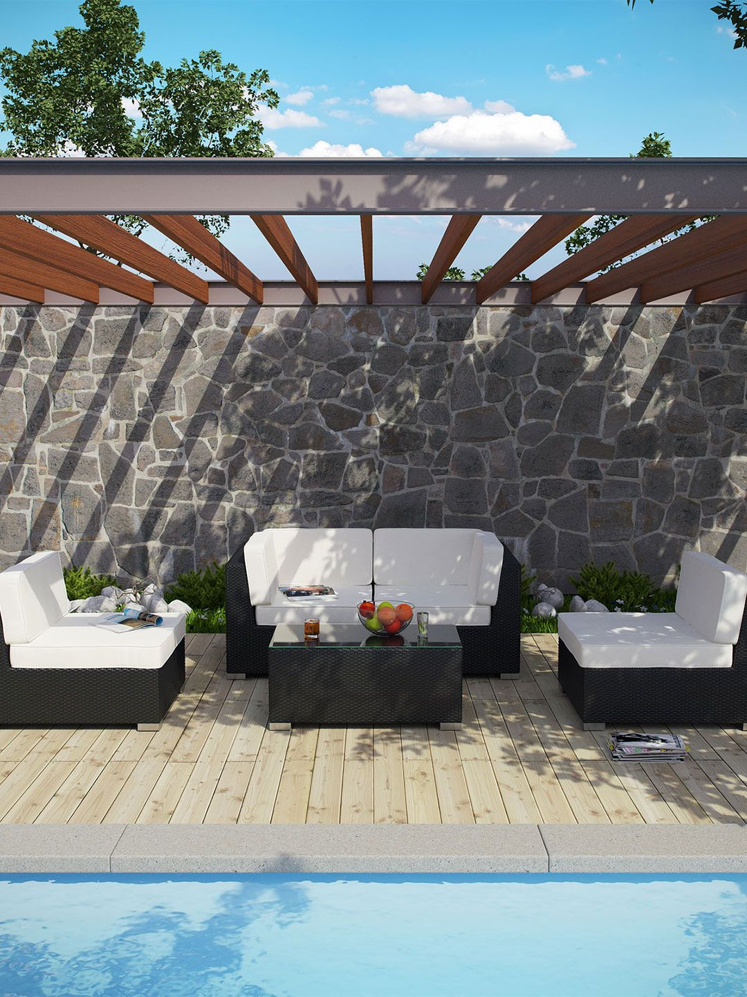 la plata outdoor sectional set ( pc) by pearl river modern ca at  - la plata outdoor sectional set ( pc) by pearl river modern ca at gilt
