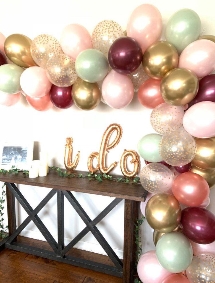 Rose Gold Bachelorette, Balloon Garland DIY Balloon Garland Balloon Arch,Balloon Garland Kit Rose Gold Bridal Shower Rose Gold Balloons