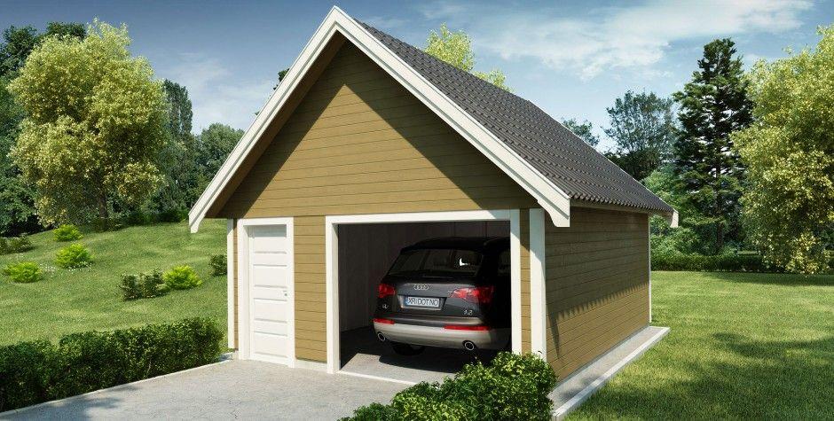 Garasjer.no – Enkelgarasje m/bod Bredde 500  Innlysende i en annen farge.....