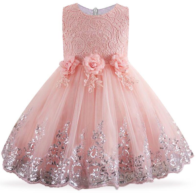 e552b8a5877a7 Robe d été pour Enfants Filles De Fleur Robe Robe De Mariage De Partie  Elegent Princesse Robes dans Robes de Mère et Enfants sur AliExpress.com