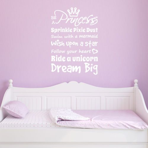 Details About Girl S Room Quote Wall Sticker Be A Princess Quote