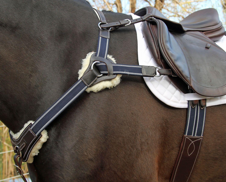 ENGLISH SADDLE HORSE PADDED BLACK LEATHER DRESSAGE OR EVENTING BRIDLE