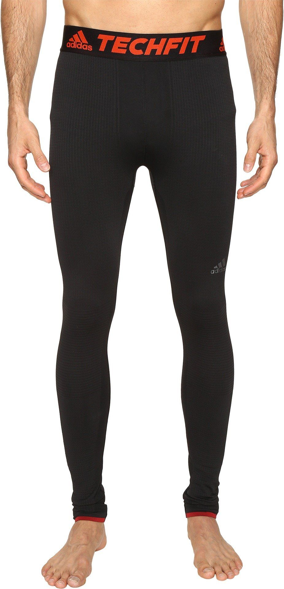 cfc227430d922 adidas Men's Training TechFit Baselayer Primeknit Climaheat Tights, Black,  Small. 26