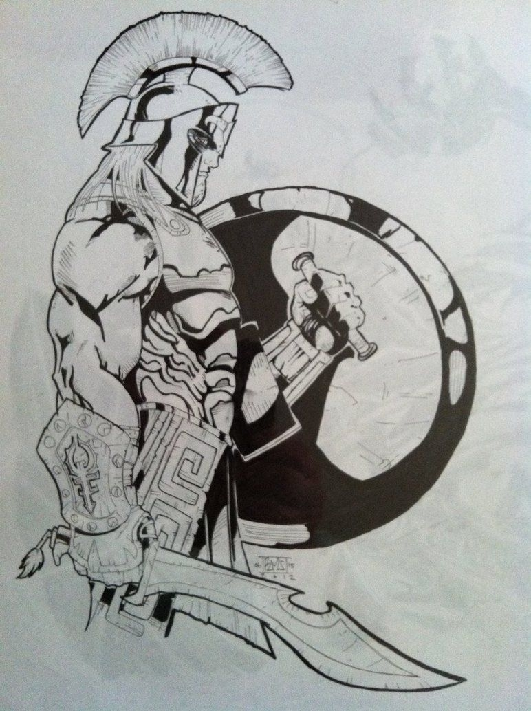 Image result for Spartan Warrior Drawings 300 | Final ...
