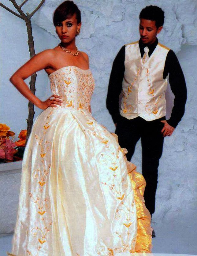 Ethiopia ethnic wedding dresses